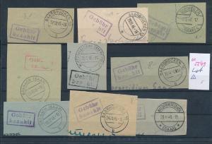 Saar -Vorläufer-Heimat  Lot Ausschnitte ...Gebühr bezahlt...(oo5549  ) siehe scan !