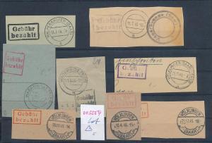 Saar -Vorläufer-Heimat  Lot Ausschnitte ...Gebühr bezahlt...(oo5554  ) siehe scan !