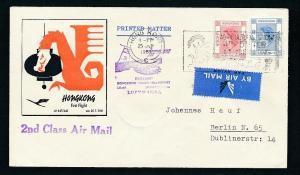 Hong Kong -Luftpost  Beleg    .. (oo2132  ) siehe scan