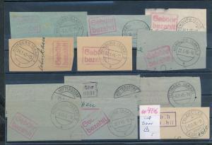 Saar -Vorläufer-Heimat  Lot Ausschnitte ...Gebühr bezahlt...(oo4716  ) siehe scan !