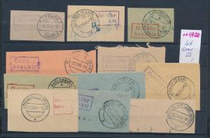 Saar -Vorläufer-Heimat  Lot Ausschnitte ...Gebühr bezahlt...(oo4728  ) siehe scan !