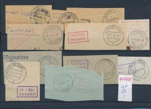 Saar -Vorläufer-Heimat  Lot Ausschnitte ...Gebühr bezahlt...(oo4729  ) siehe scan !