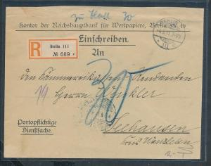 D.-Reich Dienst Beleg   (ze9594  ) siehe scan....