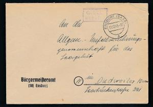 Saarland -Vorläufer  -Heimat Beleg...Gebühr bezahlt ... (oo4905 ) aus einer Spezial Sammlung !
