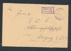 Saarland -Vorläufer  -Heimat Beleg...Gebühr bezahlt ... (oo4906 ) aus einer Spezial Sammlung !