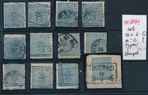 Schweden  -  Stempel/Typen - alte Marken Lot....-unterschiedlich... (oo6141 ) siehe Bild
