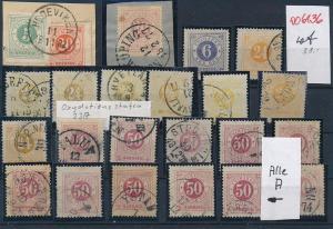 Schweden  -  Stempel/Typen - alte Marken Lot....-unterschiedlich... (oo6136 ) siehe Bild