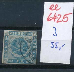 Dänemark  Nr. 3   o- Stempel...  (ee6425 ) siehe scan