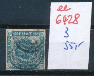 Dänemark  Nr. 3   o- Stempel...  (ee6428 ) siehe scan