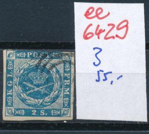 Dänemark  Nr. 3   o- Stempel...  (ee6429 ) siehe scan
