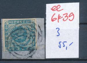 Dänemark  Nr. 3   o- Stempel...  (ee6439 ) siehe scan
