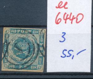 Dänemark  Nr. 3   o- Stempel...  (ee6440 ) siehe scan