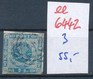 Dänemark  Nr. 3   o- Stempel...  (ee6442 ) siehe scan
