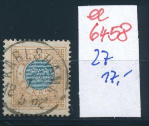 Schweden Nr. 27   o-Stempel   (ee6458 ) siehe scan