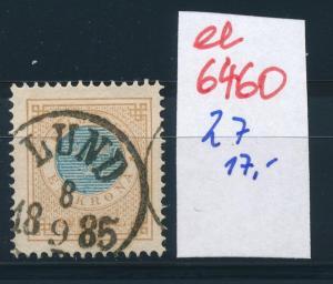 Schweden Nr. 27   o-Stempel   (ee6460 ) siehe scan