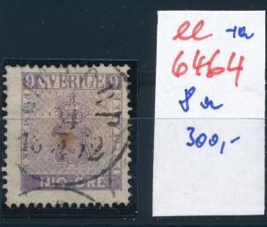 Schweden Nr. 8 a   o-Stempel   (ee6464 ) siehe scan