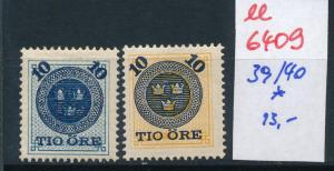Schweden Nr.  39-40    *   (ee6409 ) siehe scan