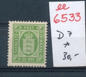 DK   Nr. Dienst 7  *     (ee6533 ) siehe scan