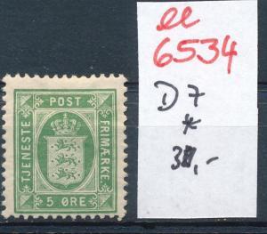 DK   Nr. Dienst 7  *     (ee6534 ) siehe scan