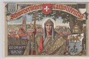Freiburg Katholiken Tag  - schöne alte Karte ....   (ka5769  ) siehe scan