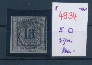 Würtemberg    Nr. 5  o   (p4934  ) siehe scan