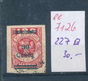 Memel  Nr. 227  o    (ee7126  ) siehe scan