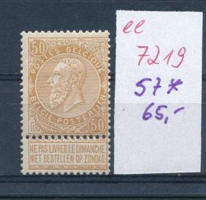 Belgien Nr.  57   *      (ee7219  ) siehe scan