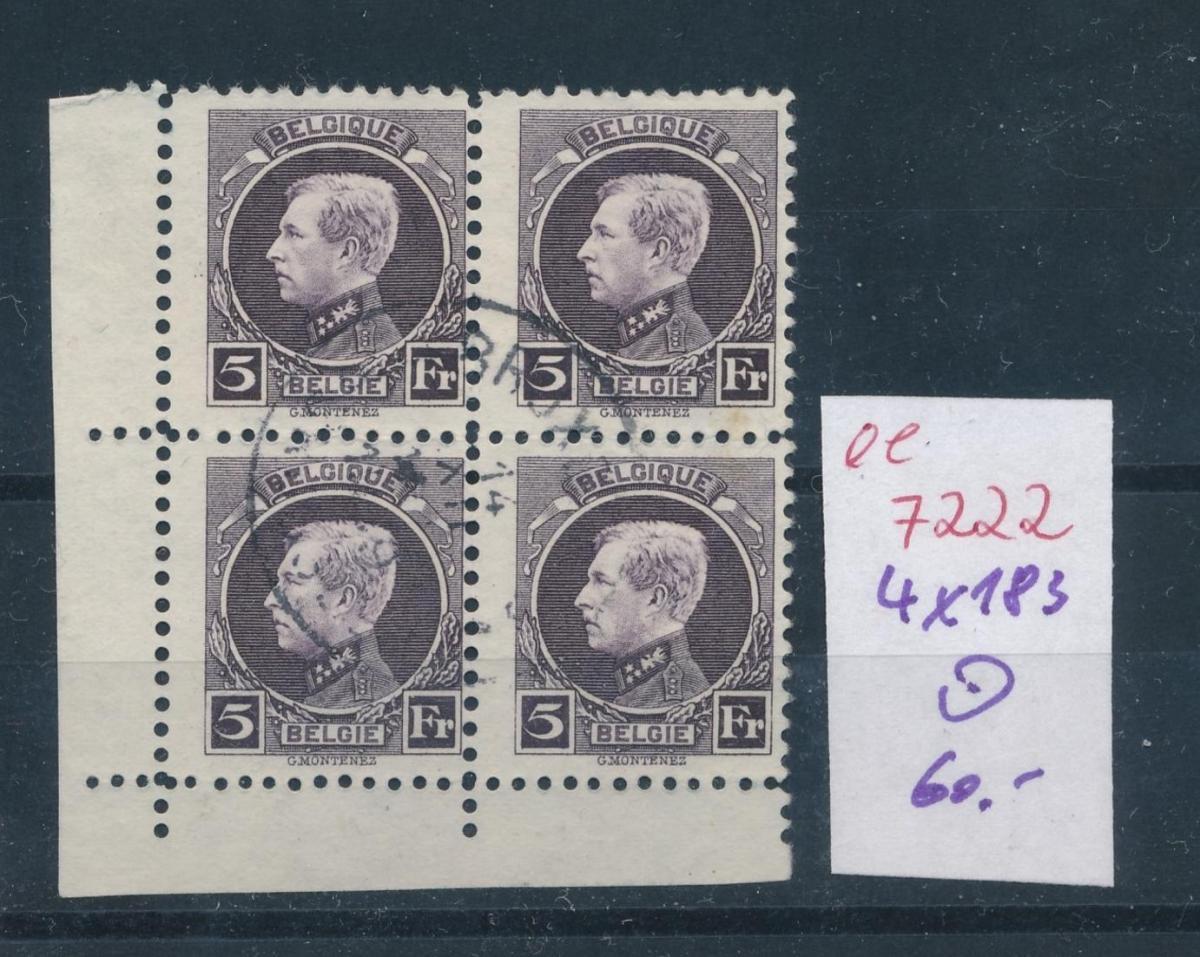 Belgien Nr. 4x 183  o     (ee7222  ) siehe scan 0