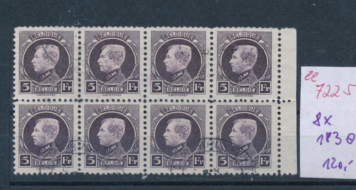 Belgien Nr.  8x 183   o     (ee7225  ) siehe scan 0