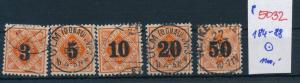 Würtemberg  -Nr. 184-88  o         (p5032  ) siehe scan