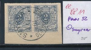 D.Post Türkei  Nr. Paar 52 Smyrna  (ee8811  ) siehe scan