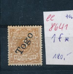 Togo Nr. 1 f *   (ee8641  ) siehe scan