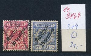 D.Post  Marokko   Nr. 3+4    o  (ee9864  ) siehe scan