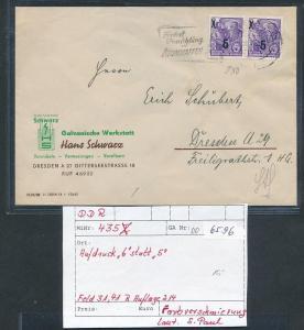 DDR Beleg Aufdruck Fehler.. (oo6596   ) siehe scan