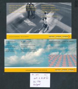 Schweiz  2 Hefte -selbstklend  o  (zu301 ) siehe scan