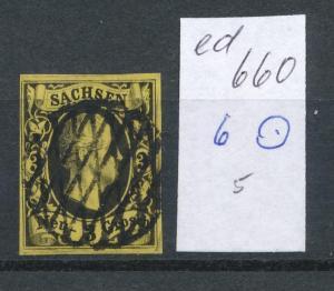 Sachsen Nr. 6  (ed660  ) siehe scan