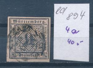 Würtemberg Nr. 4a  o (ed894   ) siehe scan