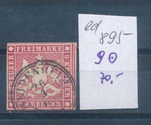 Würtemberg Nr. 9  o (ed895   ) siehe scan