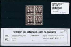 Österreich Feldpost  4x Nr. V  **   (ze9496  ) siehe scan