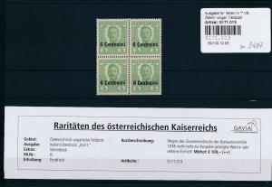 Österreich Feldpost  4x Nr. IV  **   (ze9497  ) siehe scan