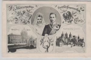 Hochzeit des Kronprinzen Paar- alte  Karte-    (ka8091  ) siehe scan