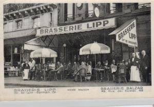 Brasserie Lipp  Saint German   - alte  Karte-    (ka6571  ) siehe scan
