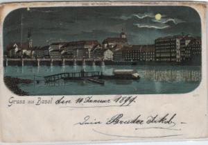 Basel   - alte  Karte-    (ka8223  ) siehe scan