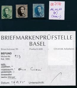 Belgien Nr. 19,11,12  (*)  (oo7177  ) siehe scan