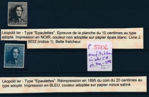 Belgien  Proben ?  ...wurden in der CH für je 400 SFR verkauft ? (p5206  ) siehe scan
