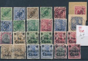 D.-Post -China - nettes Dubletten Lot Stempel /Typen -unterschiedlich    (oo7211  ) siehe scan
