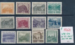 Österreich Nr. 498-511  sauber *      (p5264  ) siehe scan