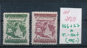 Österreich  Nr.  466-67   *   (ed2869  ) siehe scan