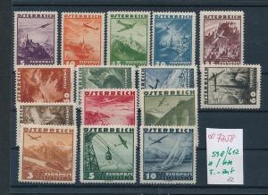 Österreich Nr. 598-612 */**   (oo7358  ) siehe scan