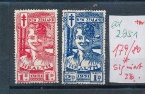Neu Seeland   Nr. 179-80 * signiert  (ed2951  ) siehe scan